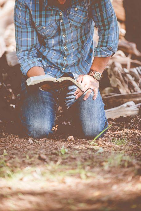 Bible kneeling