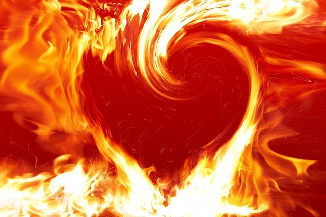 Heart Swirly Fire
