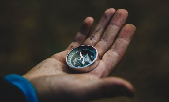 Compass in hand