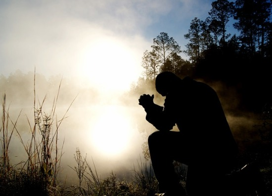 Praying in the fog