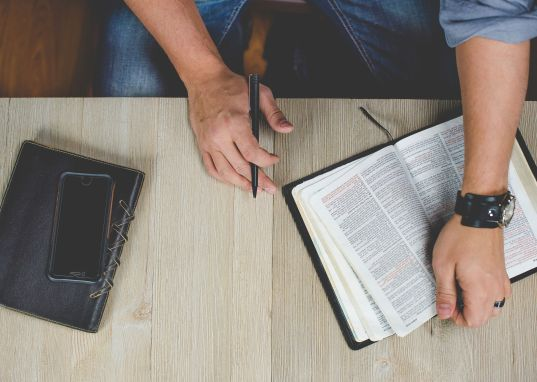 Bible and dayplanner