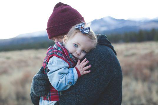 Daddy baby hug